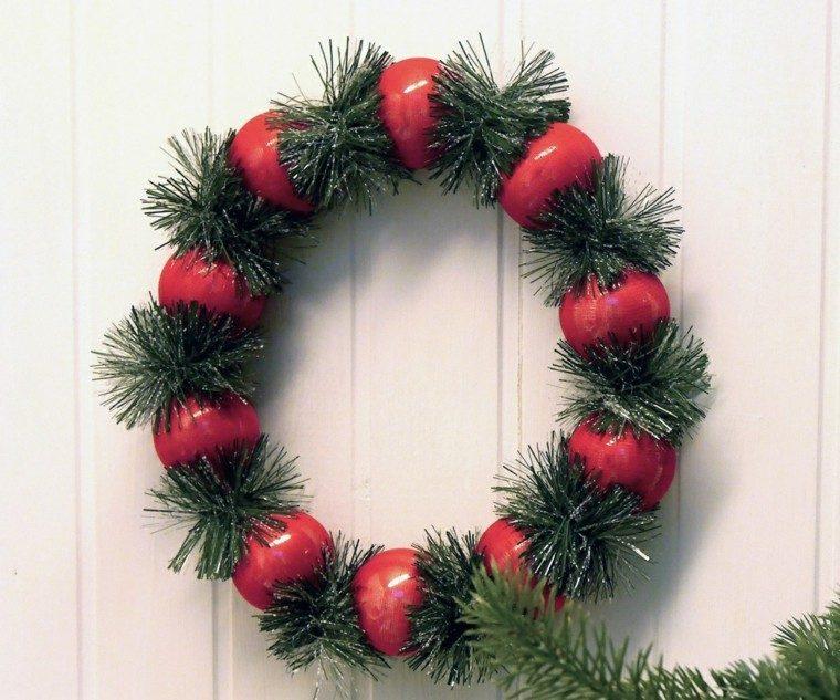guirnalda navidad bolas navidad rojas ideas