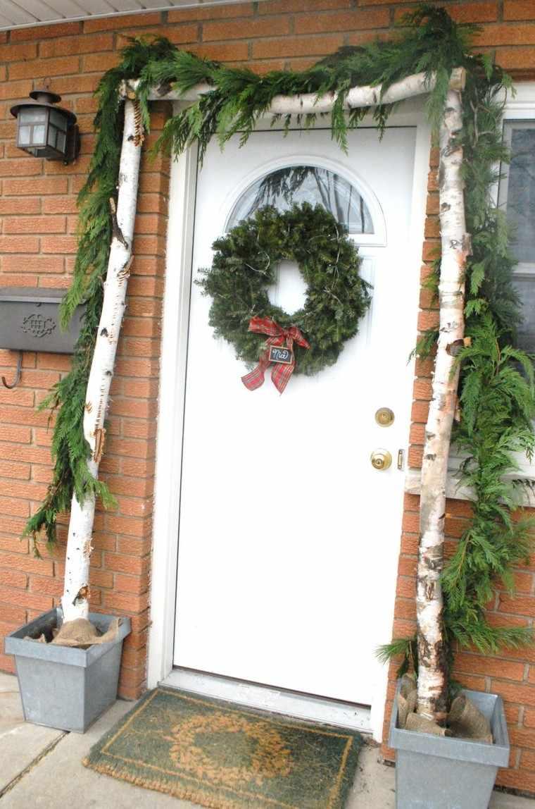 guirnalda navidad estilo rustico verde