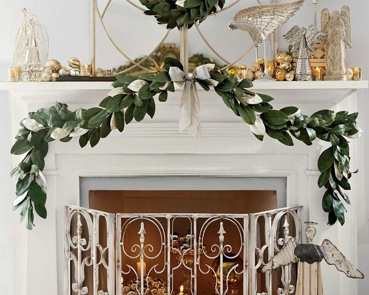 guirnalda navidad hojas magnolia lazo