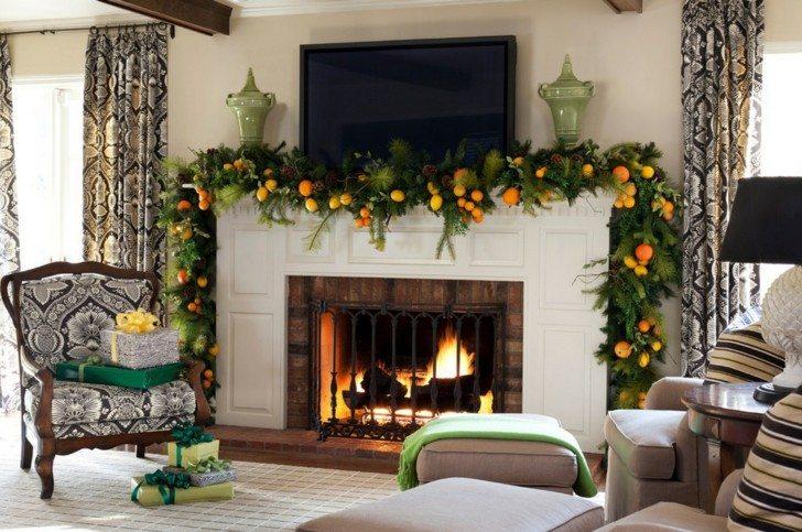 guirnalda navidad naranjas limones frutos
