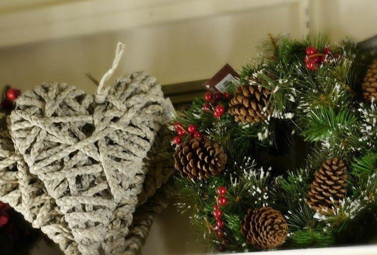 guirnalda navidad pinas pino corazones cuerda ideas