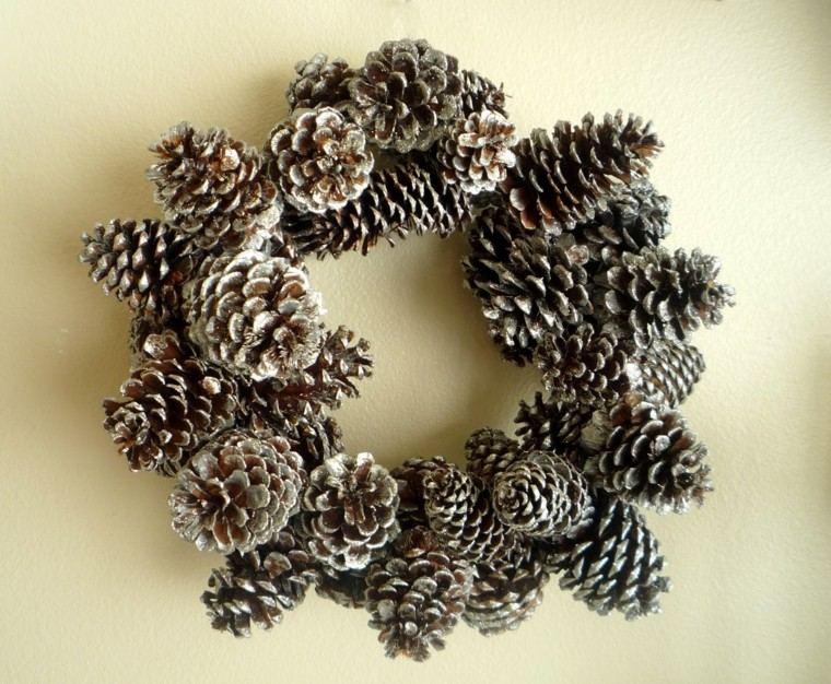 guirnalda navidad pinas pino interesante ideas