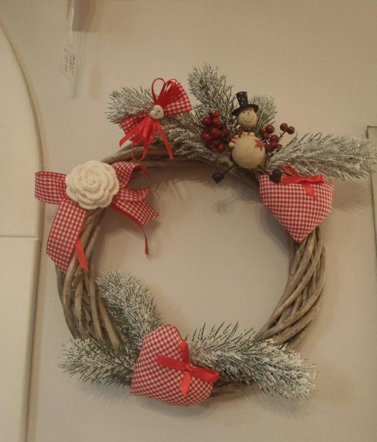 guirnalda navidad ramas arbol navidad nieve ideas