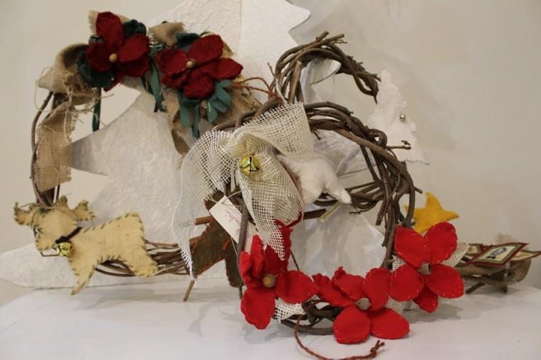guirnalda navidad ramas decoraciones tela reno ideas