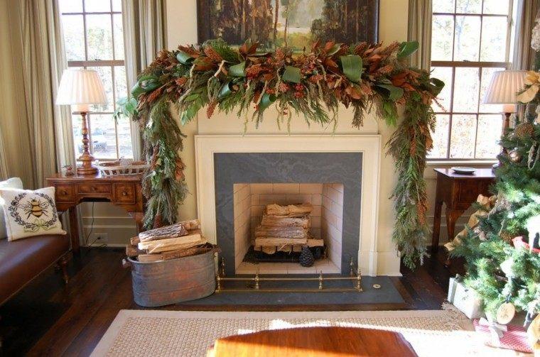 guirnalda navideña hojas pino magnolio