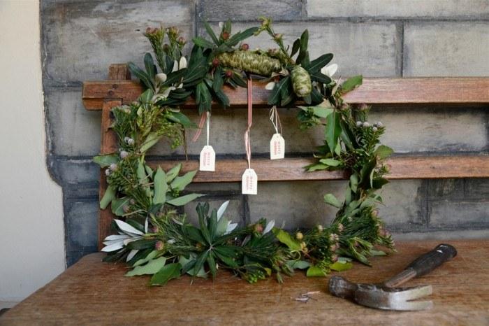 guirnalda corona natural hojas