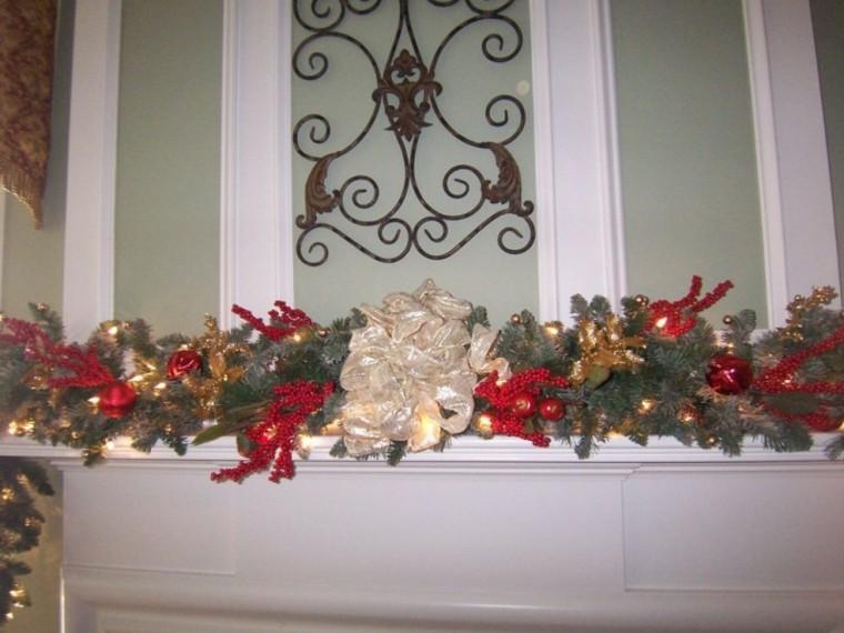 guirnaldas de navidad bayas rojas