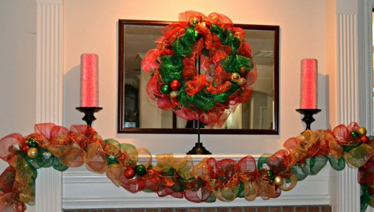 guirnaldas navidad telas colores