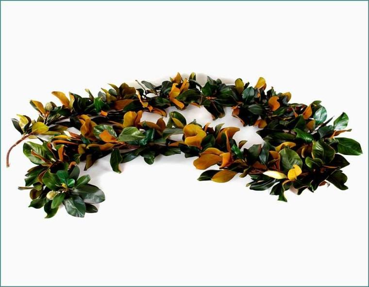 guirnaldas ramos magnolias hojas amarillas