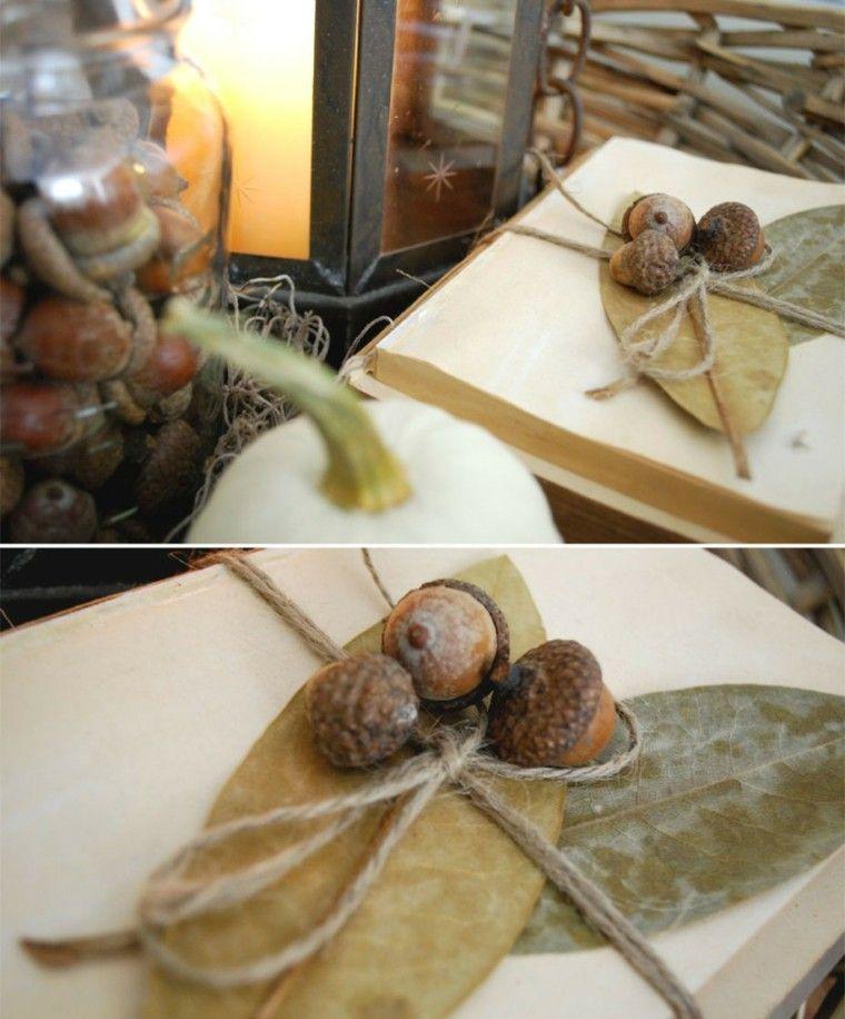 hojas eucalipto decorar bellota