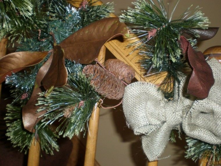 hojas magnolio pintadas color marron