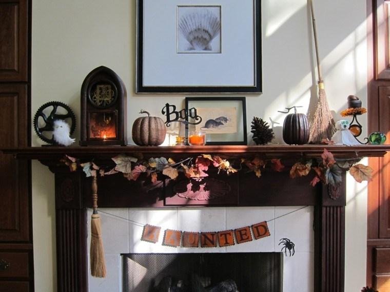 hojas secas decoracion chimenea