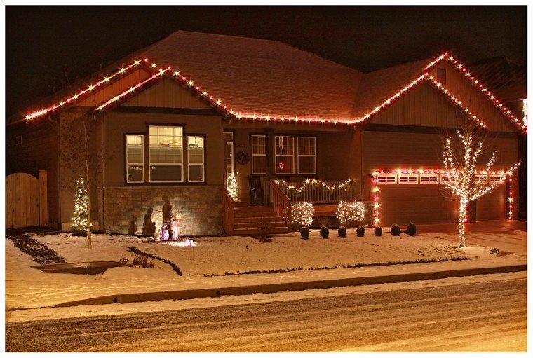 iluminacion exterior decoracion navidad luces casa preciosa ideas