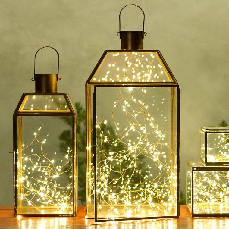 iluminacion exterior decoracion navidad luces farolas ideas