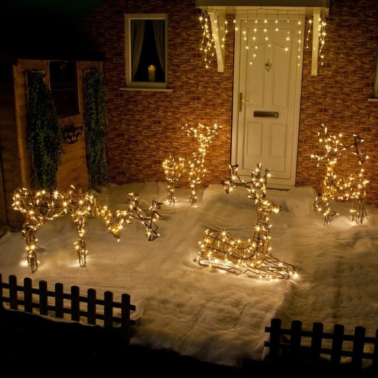 Decoracion exterior navidad casas for Luces decoracion exterior