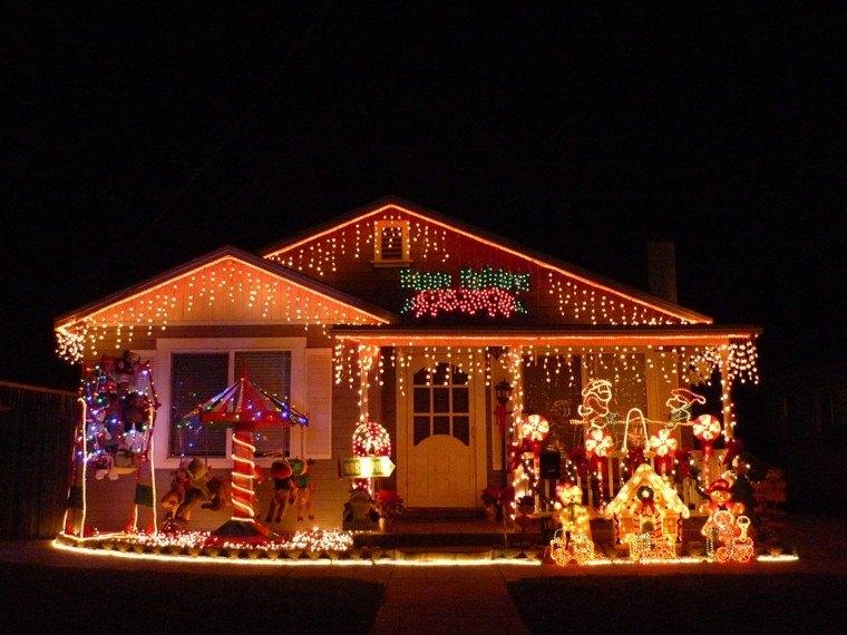 iluminacion exterior decoracion navideña luces adornos navidad ideas