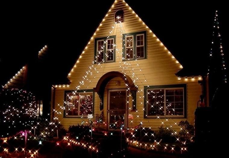 iluminacion exterior decoracion navideña luces interesante ideas