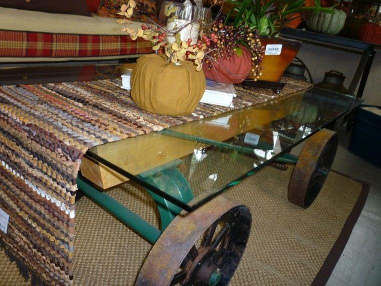 industrial diy mesa decorado ruedas