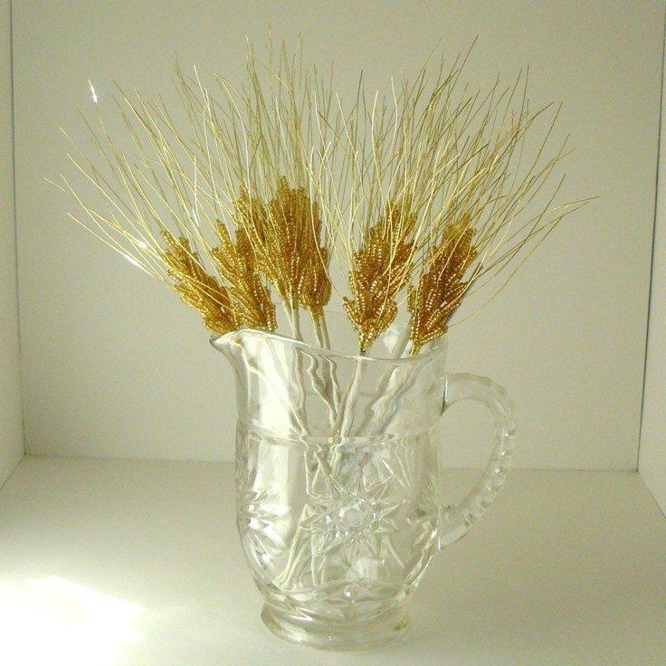 jarra cristal espigas doradas