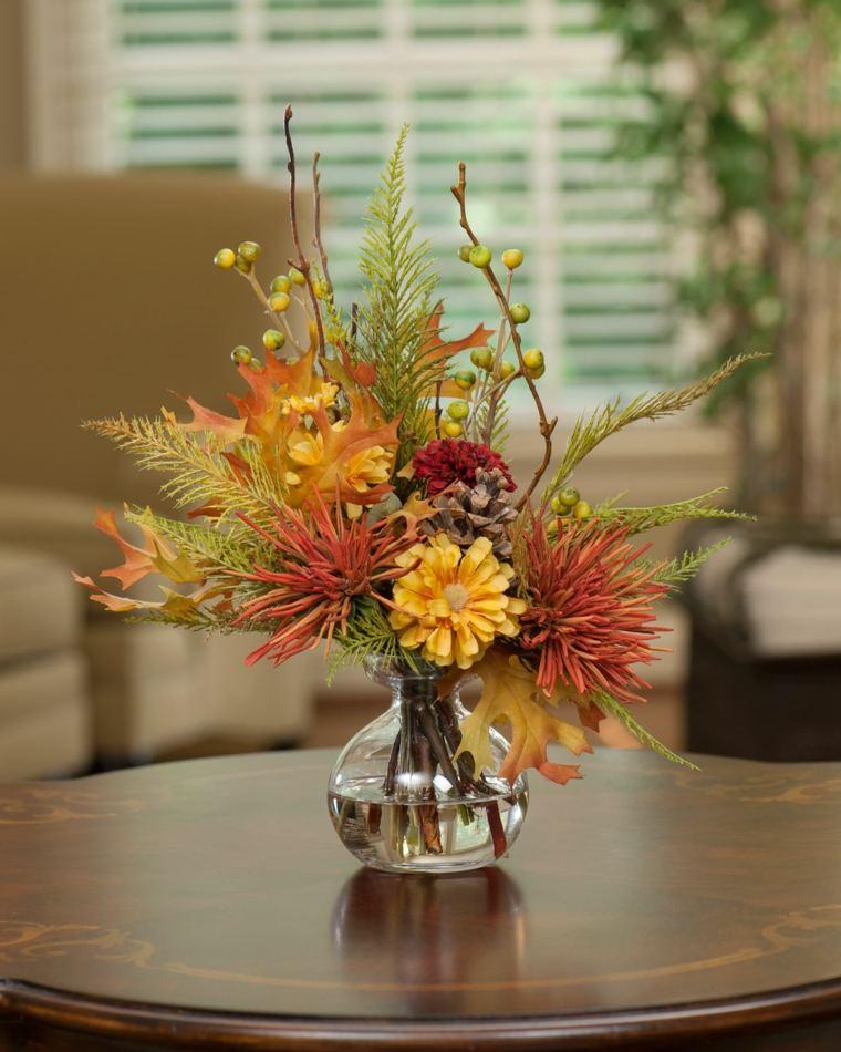 centros con flores de otoño
