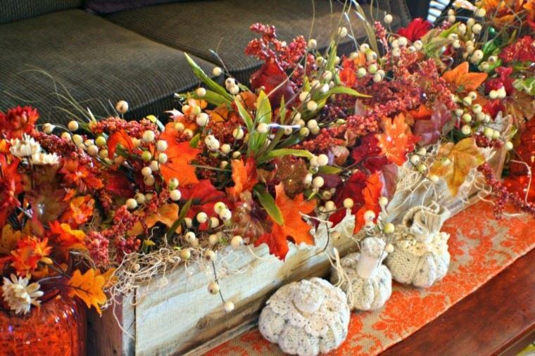 lateral colorido flores otoño espigas