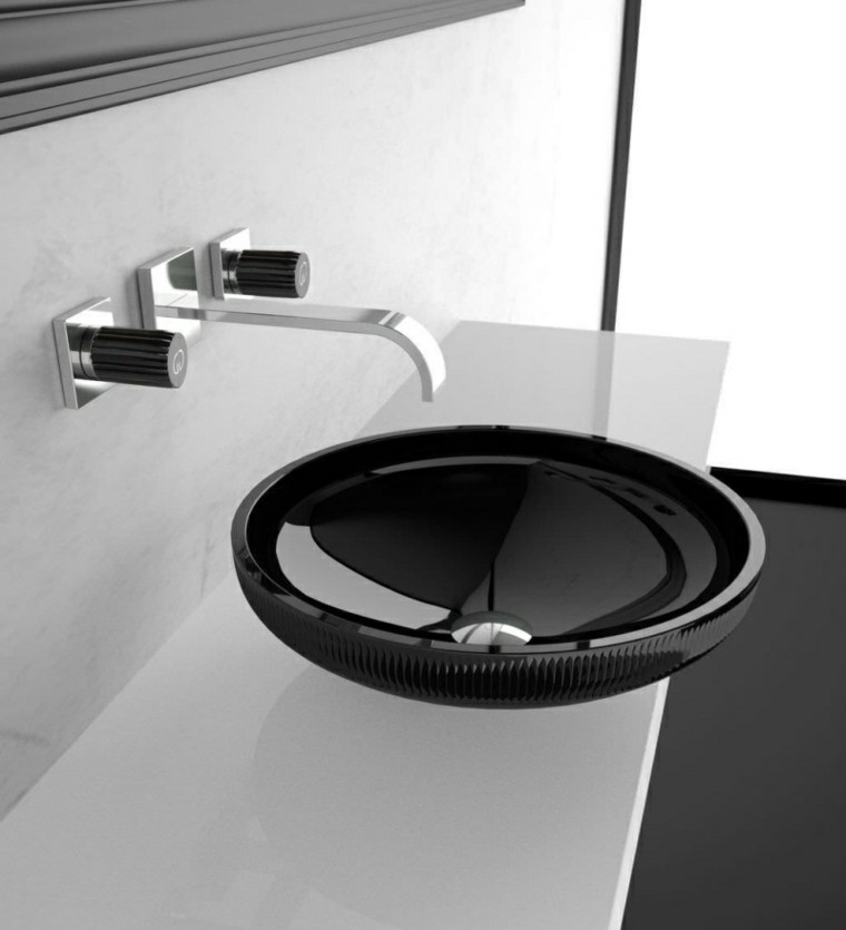 lavabo redondo original color negro