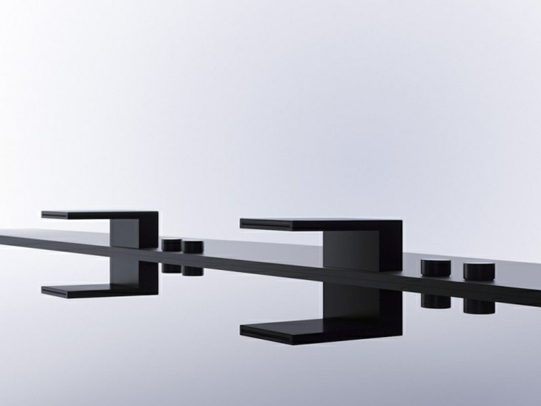 lavabos negros estilo minimalista negro