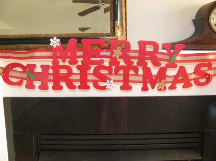 letras decorativas rojas feliz navidad