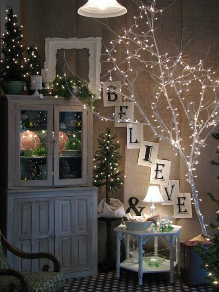 luces de navidad ideas estilo ramas lamparas decoracion