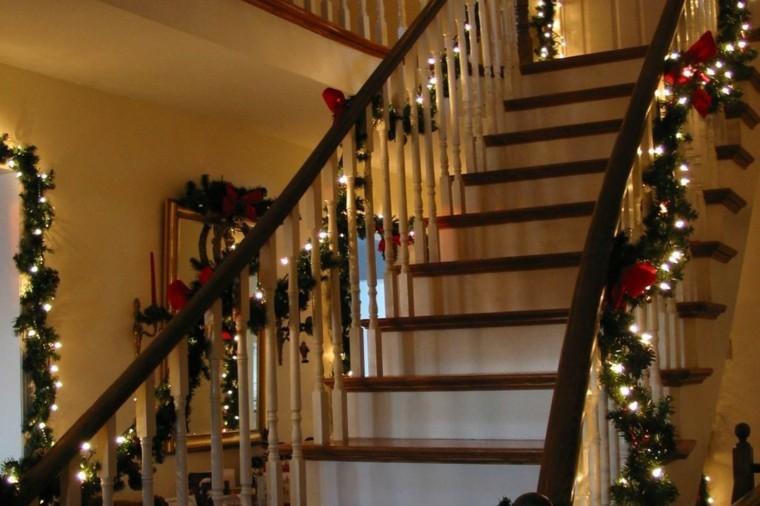luces guirnaldas escaleras diseño