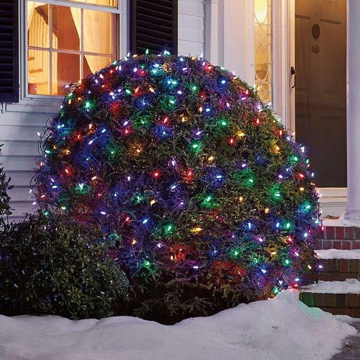 luces navidad arbusto deco colores