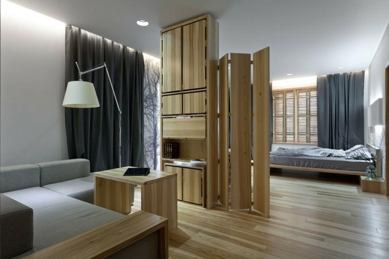 madera diseños lamparas estilo grises