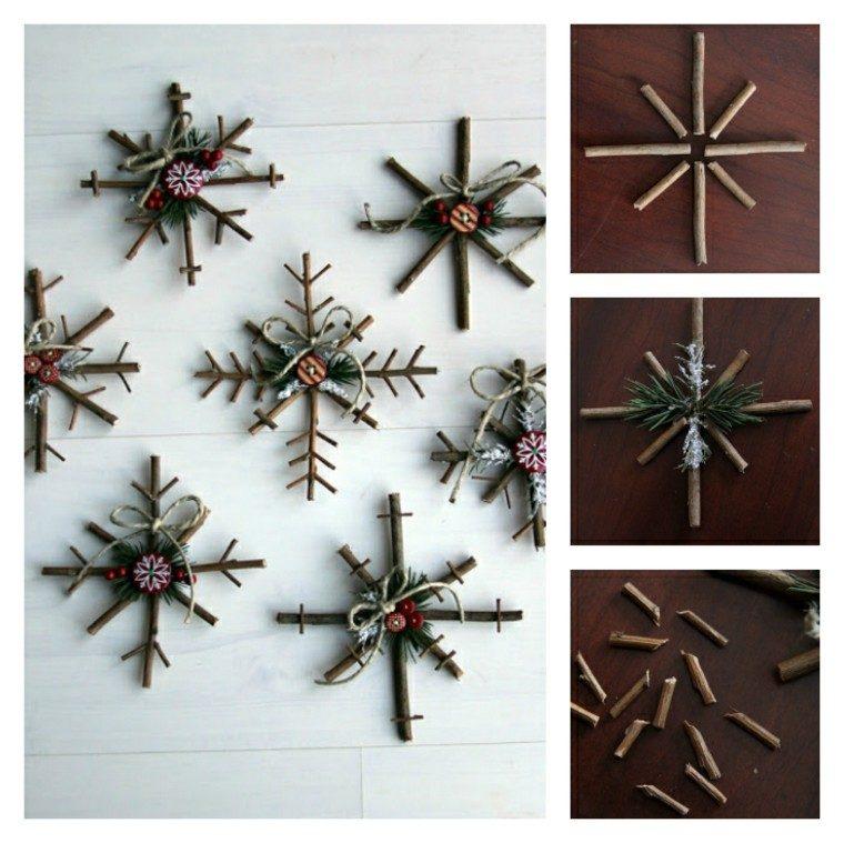 madera fragmentos conos ramas nieve