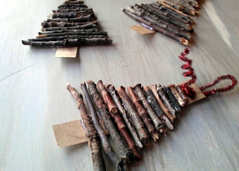 madera rustico arboles detalle colgantes