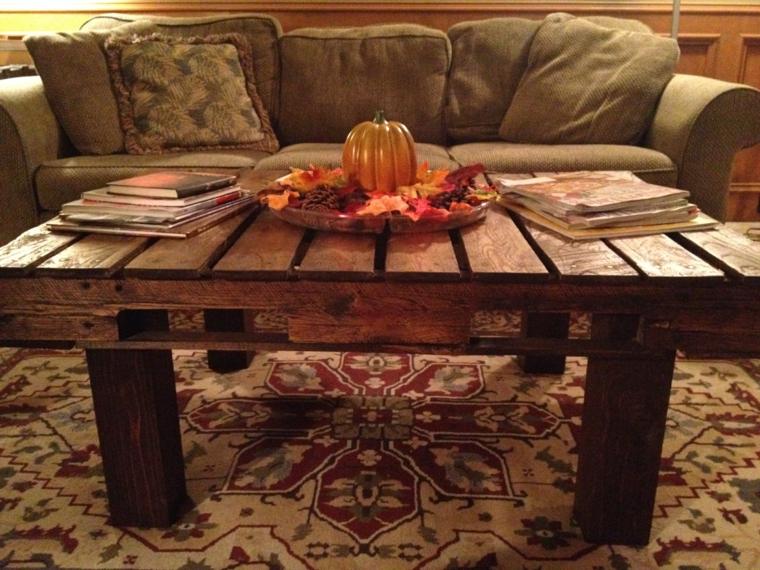madera rustico salon detalles calabaza