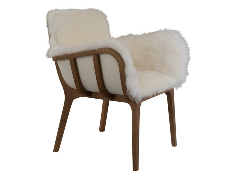 madera silla simple cojines sillon