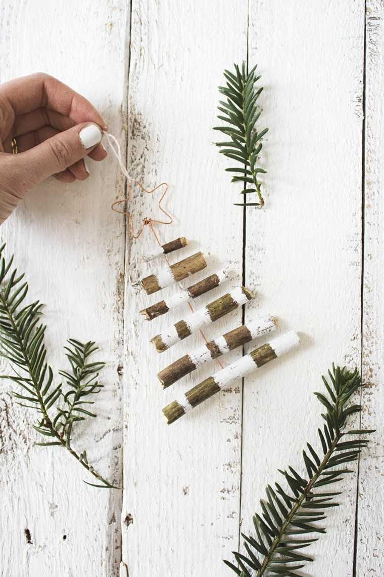 madera troncos navidad diseño minimalista