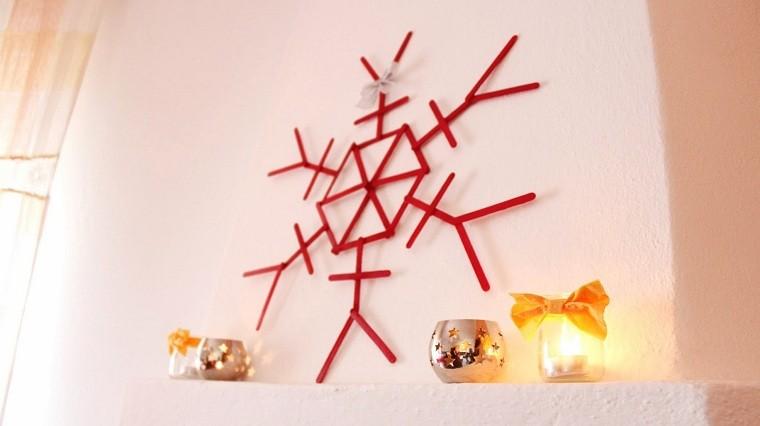 madera velas amarillo rojo lazo