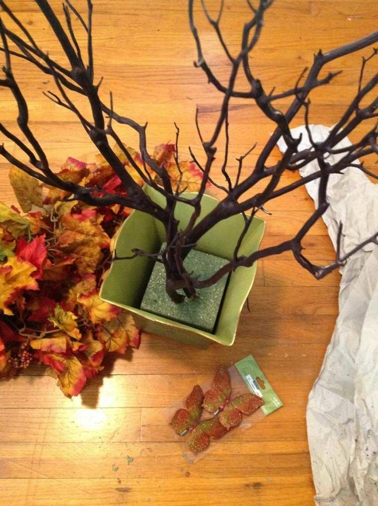 manualidad hojas secas detalles diy