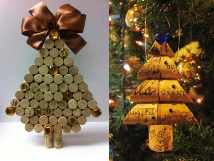 manualidades corcho adornos navidenos arboles bonitos ideas