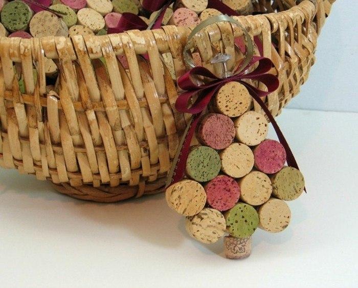 manualidades-corcho-adornos-navidenos-cesto-arbol