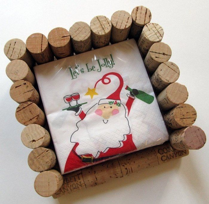 Manualidades navidad original con adornos de corcho - Trabajos manuales navidenos ...