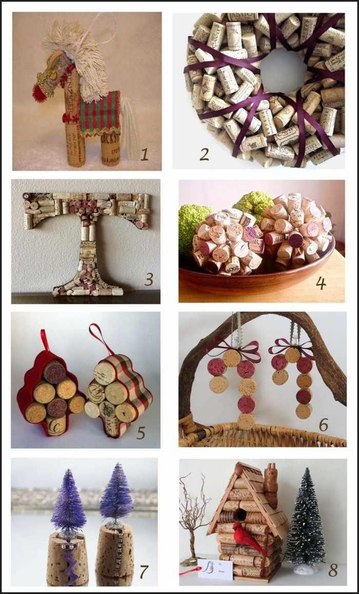 manualidades corcho adornos navidenos reno guirnalda ideas