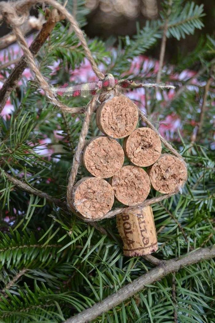 manualidades corcho adornos navidenos tapas cuerda ideas
