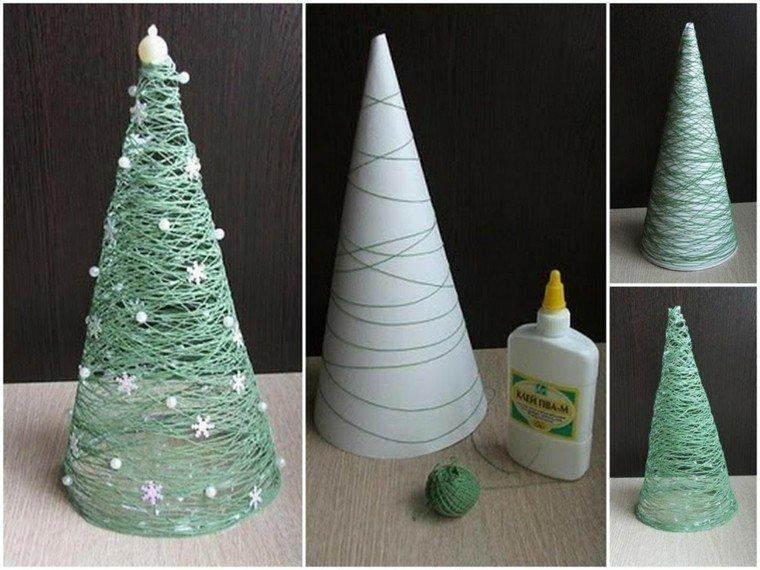 manualidades navidad ideas arbol navidad invierno