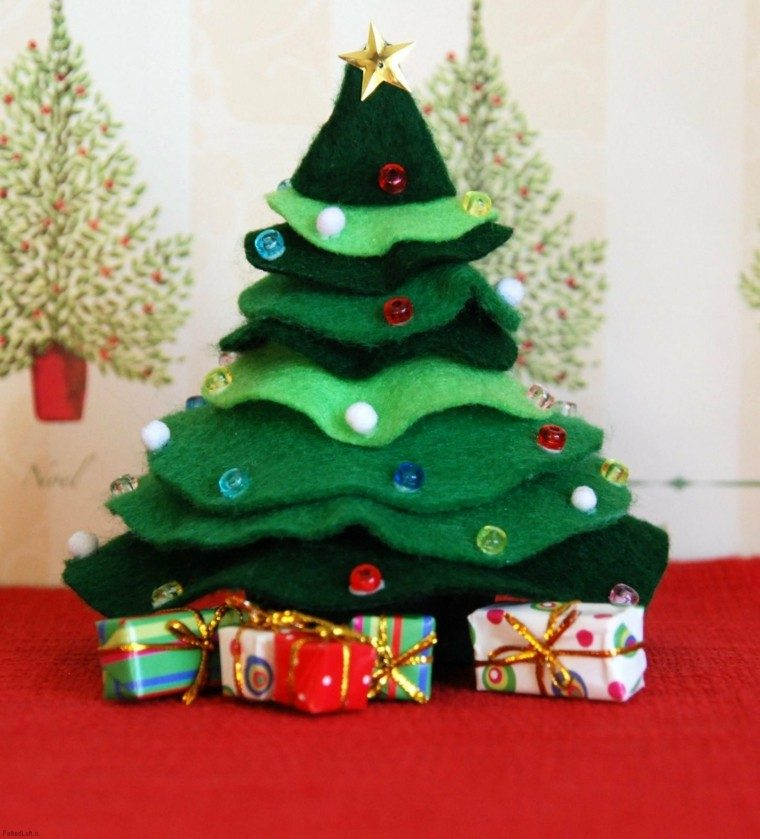 Manualidades de navidad ideas de adornos preciosas - Manualidades navidad arbol ...