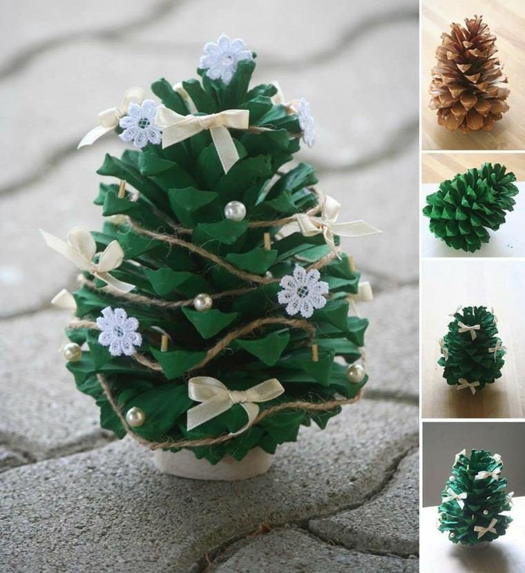 manualidades de navidad ideas pina arbol navidad invierno