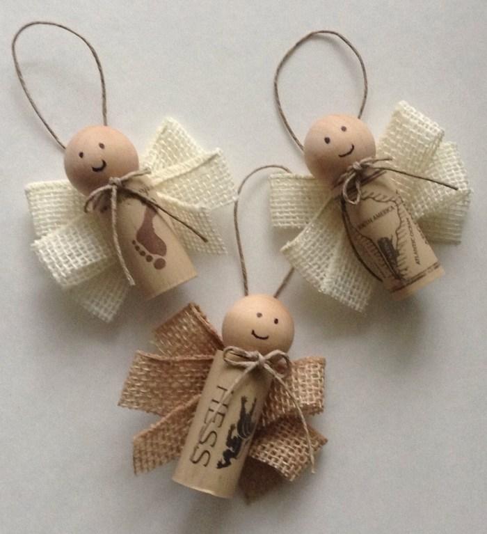 manualidades navidad adornos corcho angeles ideas