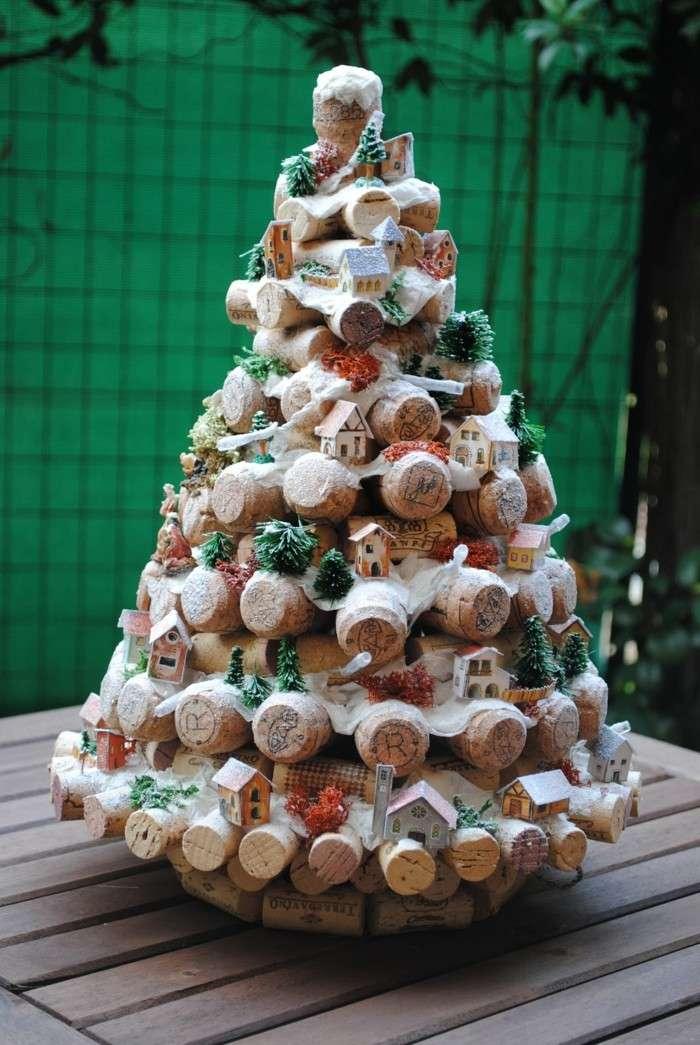 Manualidades Navidad Original Con Adornos De Corcho - Manualidad-arbol-navidad