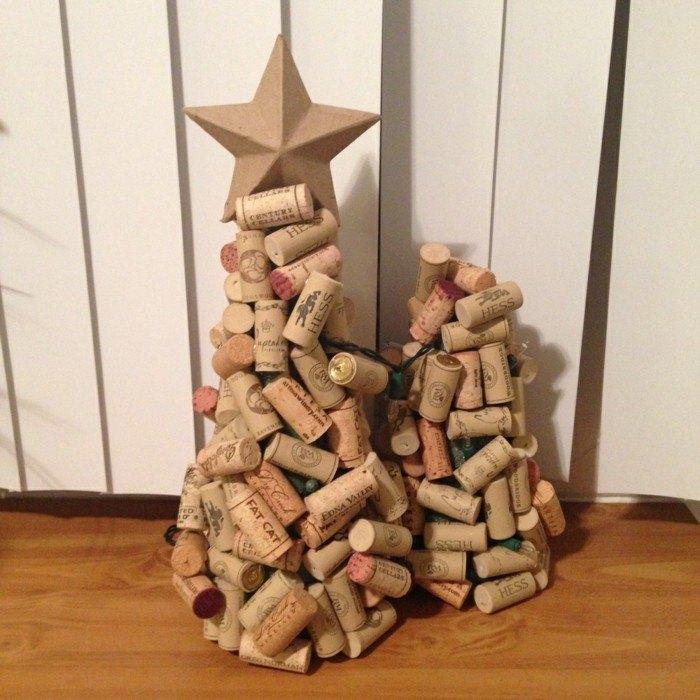 manualidades navidad adornos corcho estrella ideas